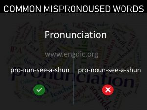 commonly mispronounced words, mispronunciations pdf 34