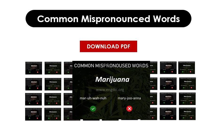 mispronunciation