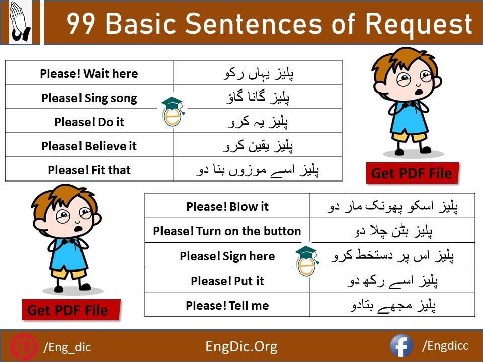 sentences of request