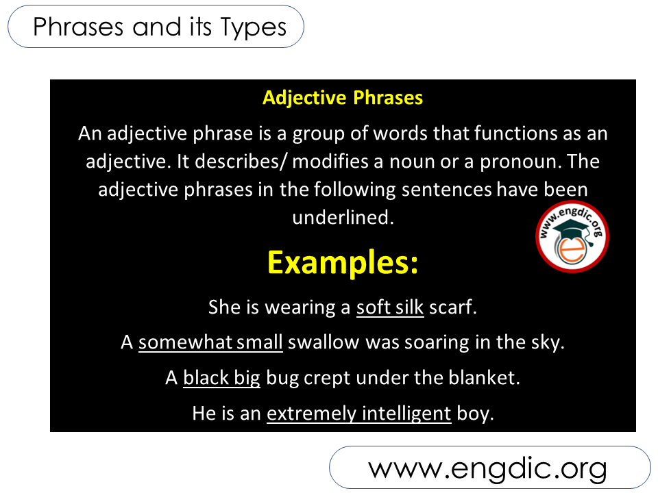 adjective Phrase - Phrases and its types