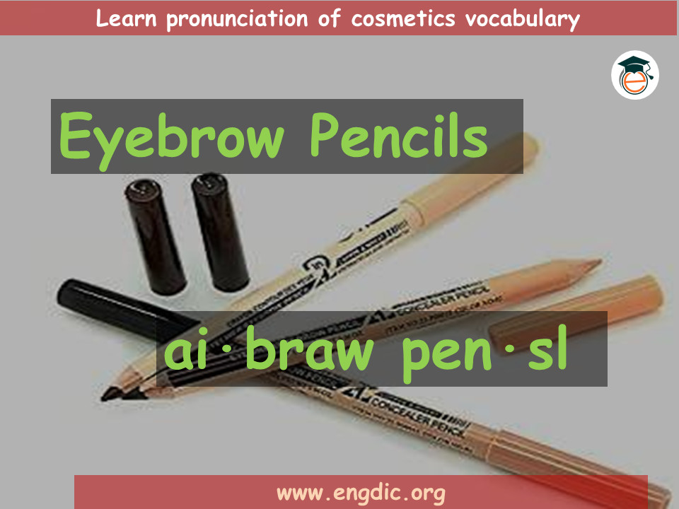 Makeup vocabulary with images and pronunciation