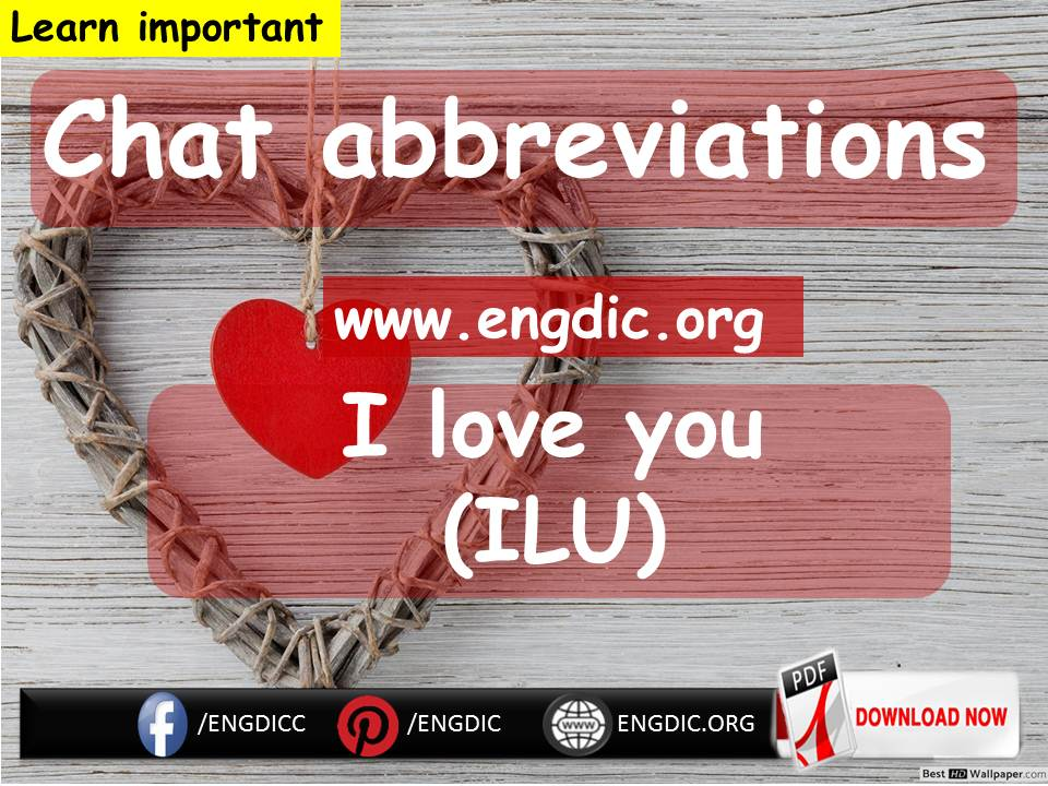 Abbreviation for Texting - chatting shortcut Words - 𝔈𝔫𝔤𝔇𝔦𝔠