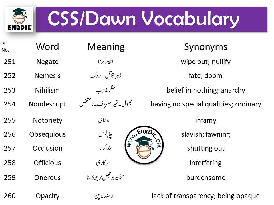 advanced CSS vocabulary words