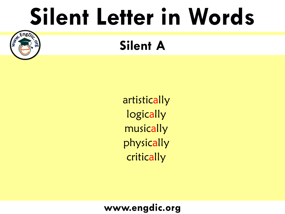 silent letter words with a