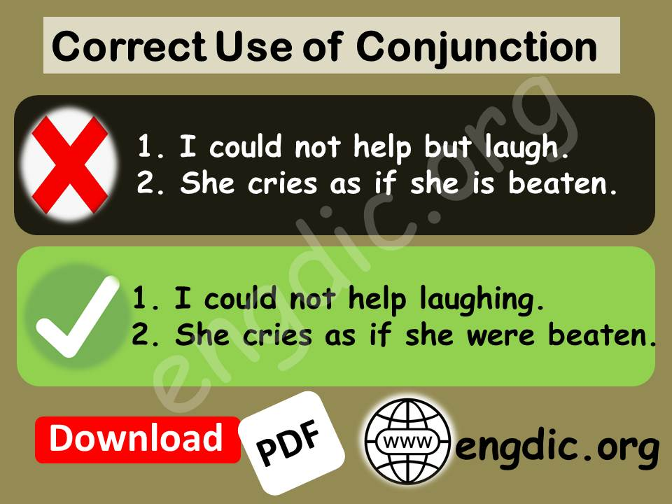 use of conjunction