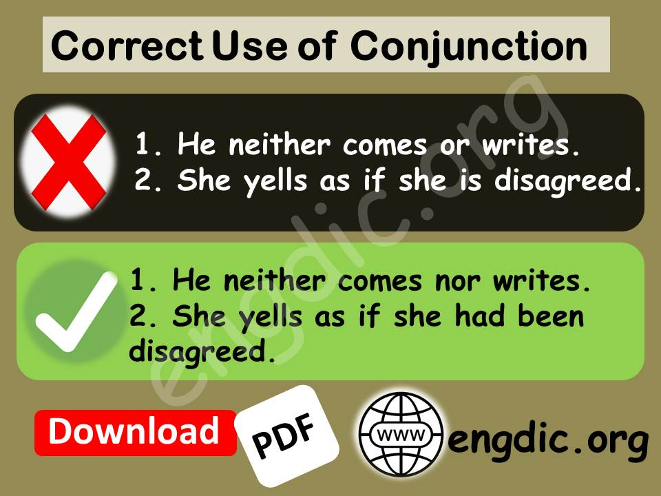 use of conjunction nor, as if