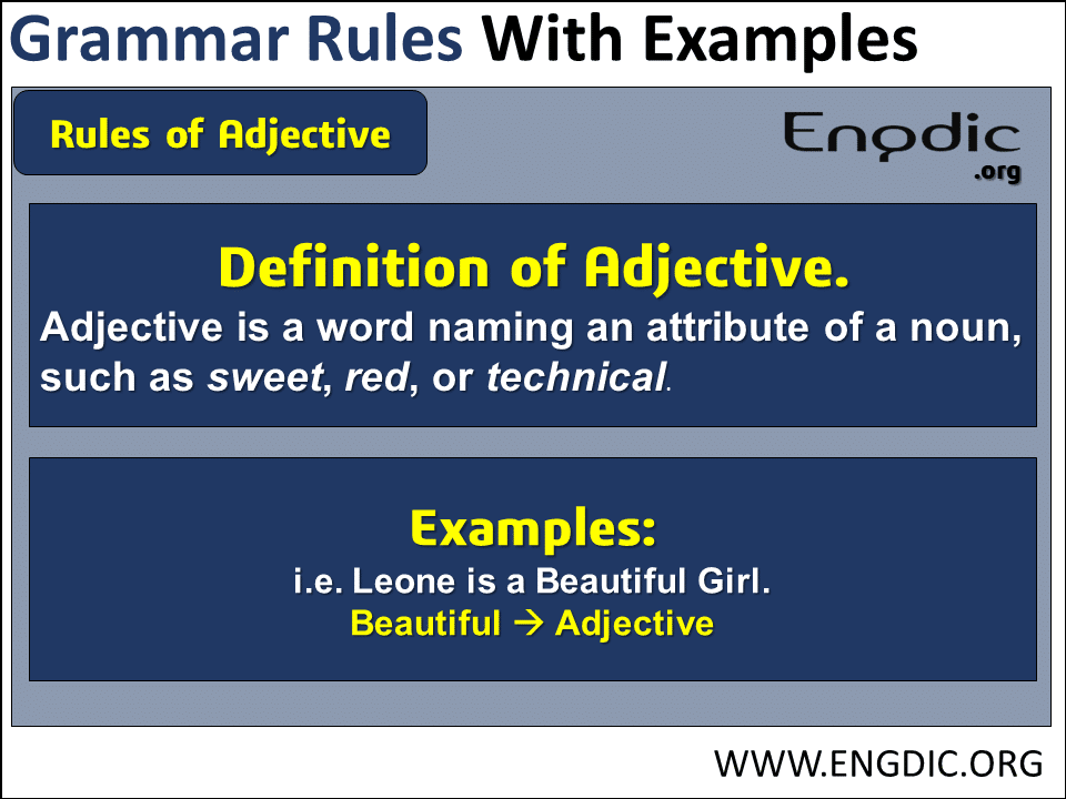 Grammar Rules English Related Adjective
