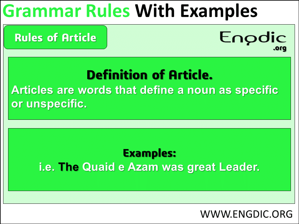 grammar rules related article