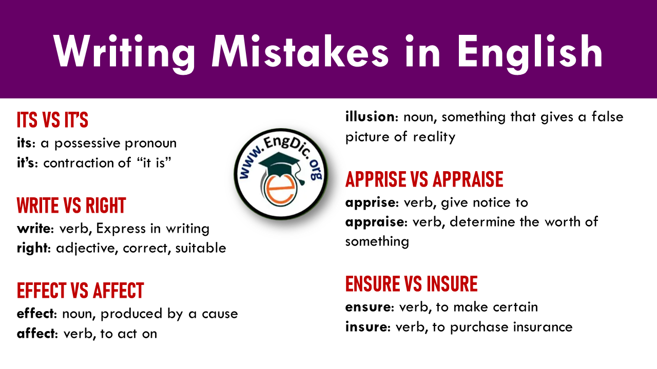 writing mistakes in english