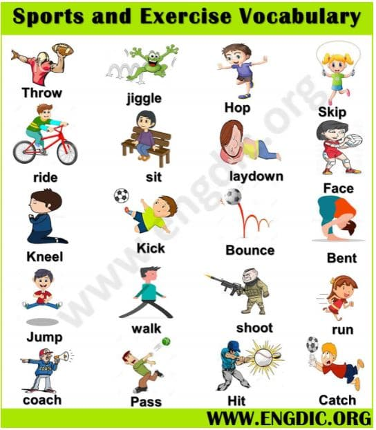 sports and exercise vocabulary