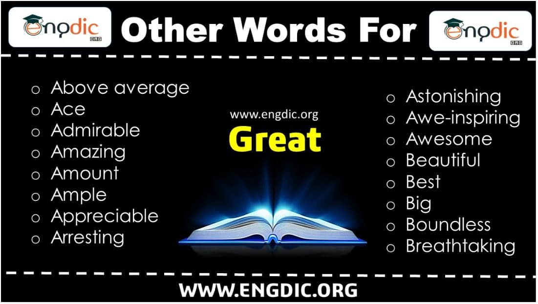 Great Synonyms in English – Other Words for Great
