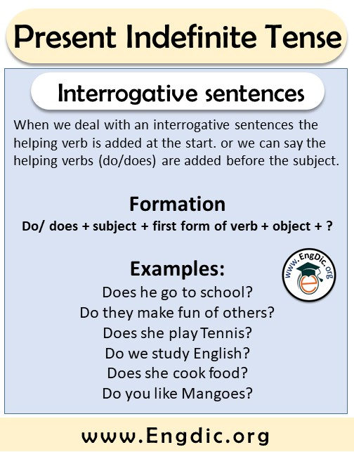 interrogative sentences formation and examples