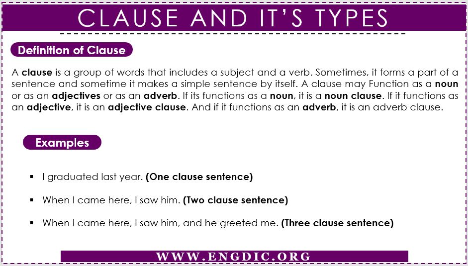 Clause and its types