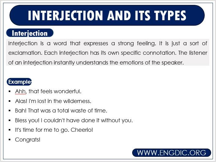 interjection definition and examples