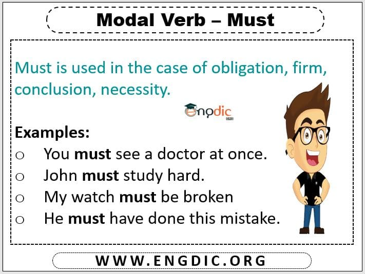 10 examples of modals