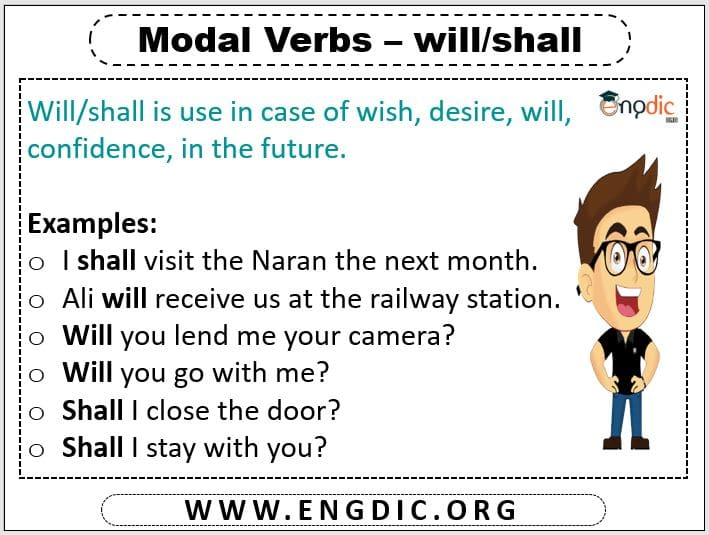 modal verb will and shall