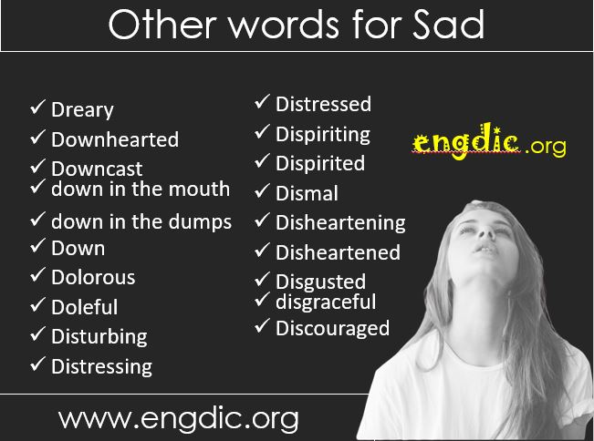important other words for sad or depressed