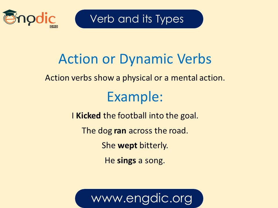 action or dynamic verbs
