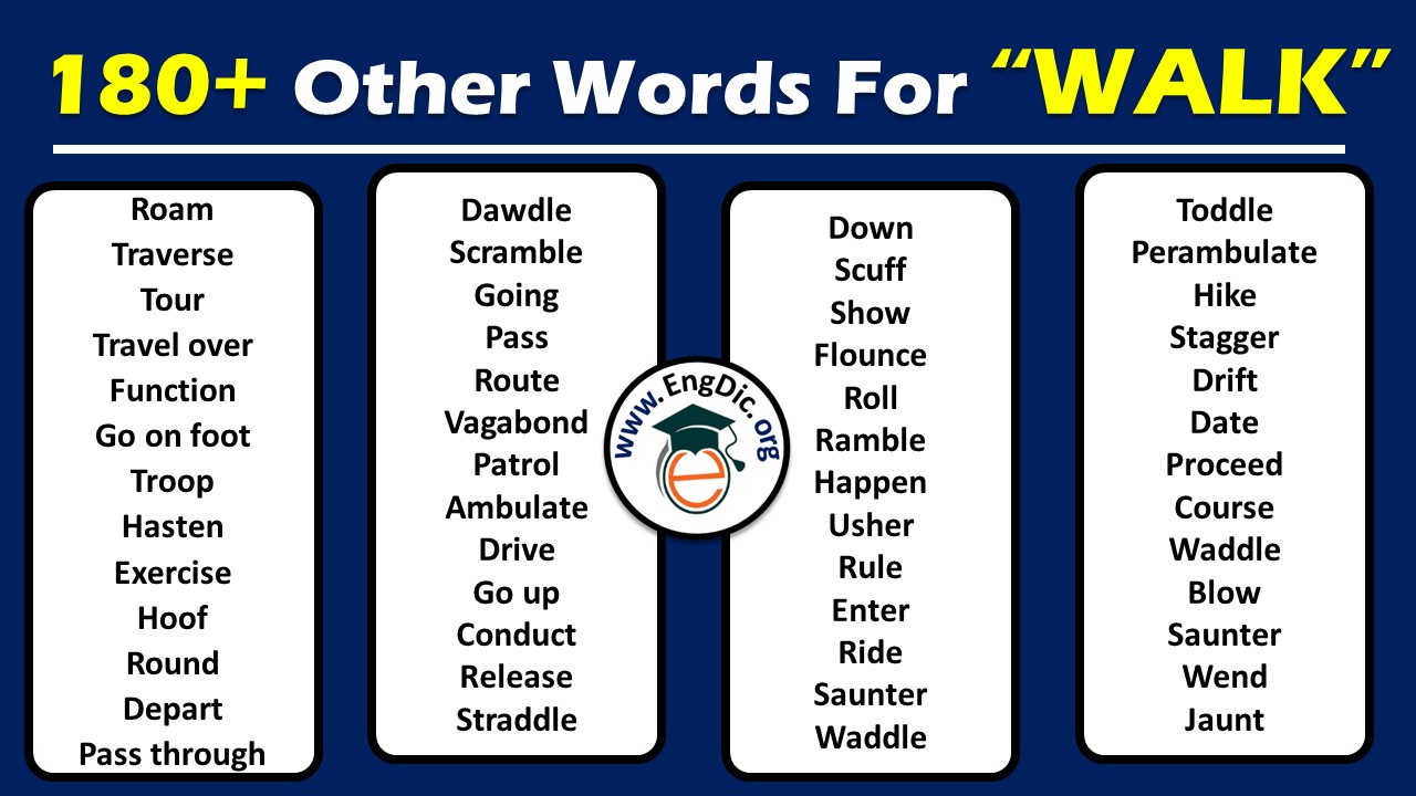 another word for walk
