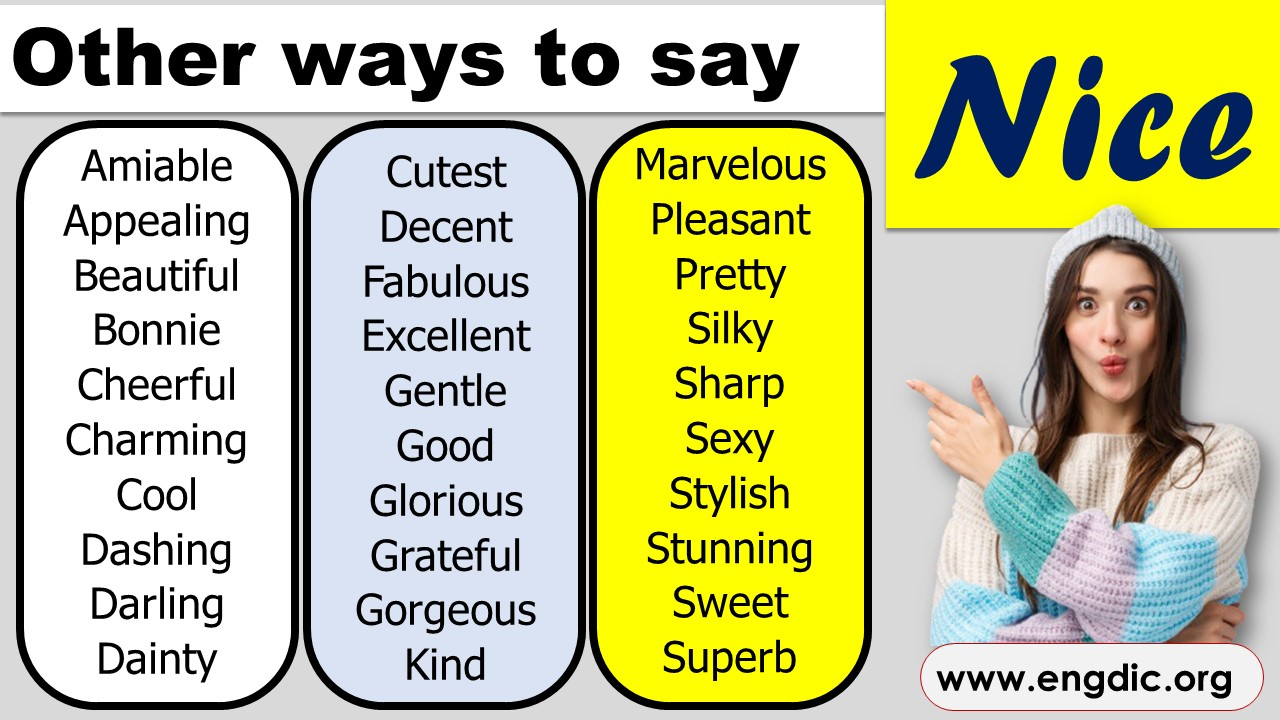 other words for nice