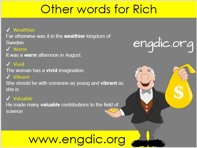 other words for rich