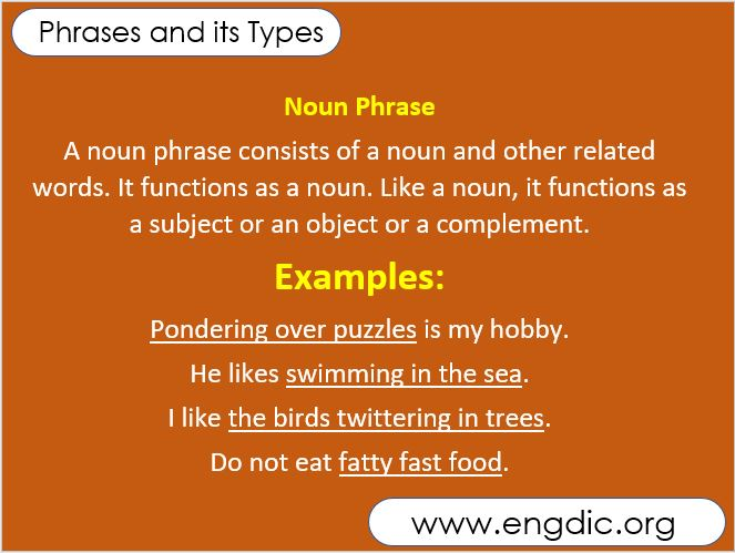 phrases and its type