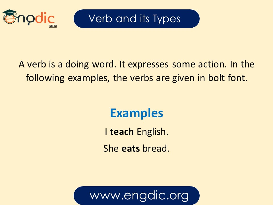 verb and its types