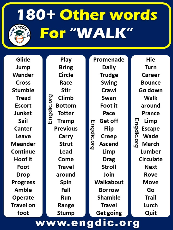 what is another word for walk