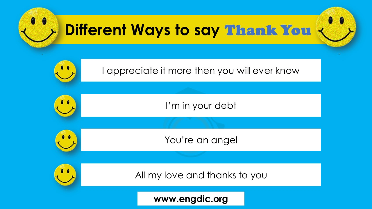 100 ways to say thank you