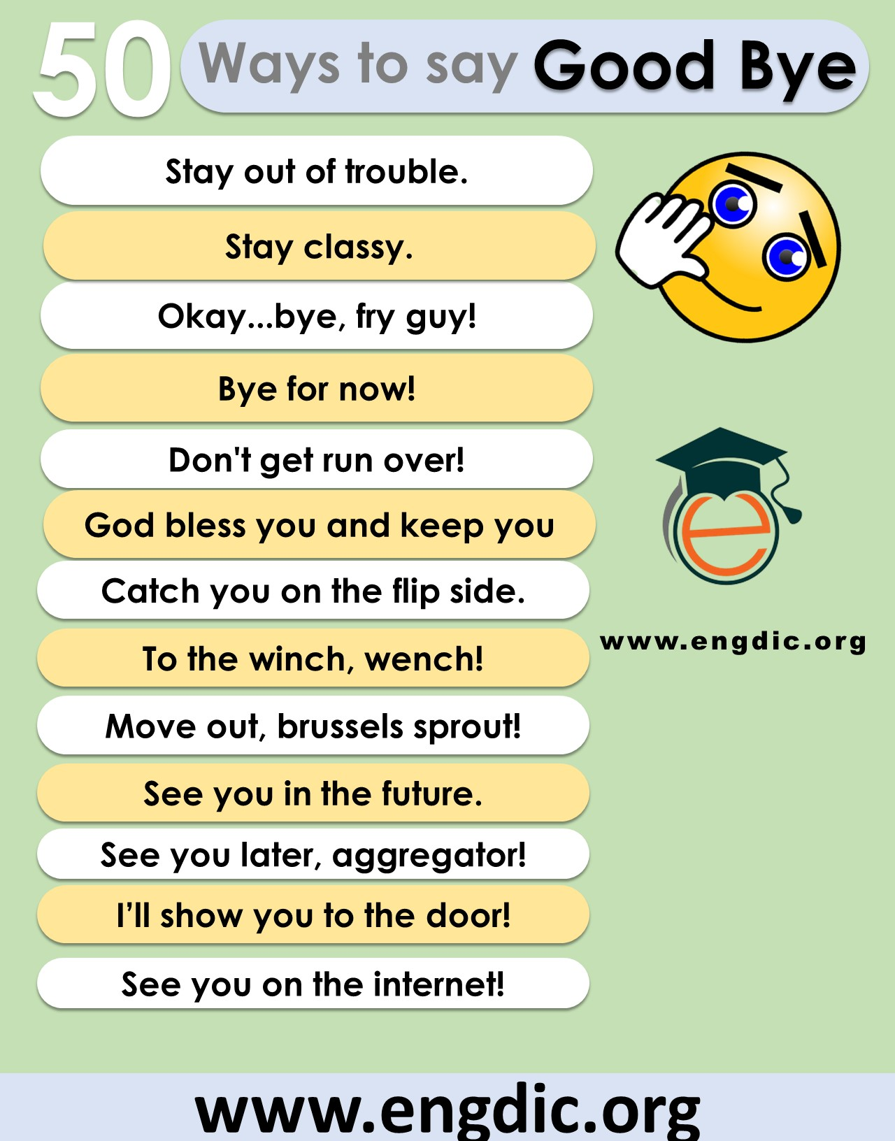 different ways to say goodbye