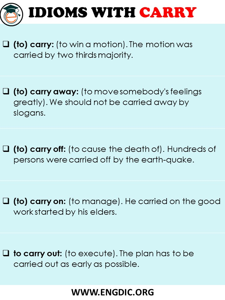 idioms with carry pdf