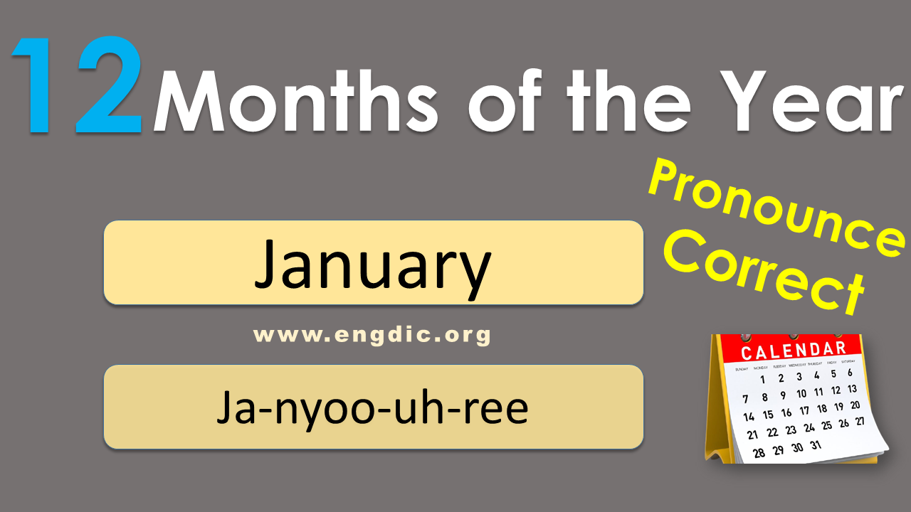 correct pronunciation of january, names of months