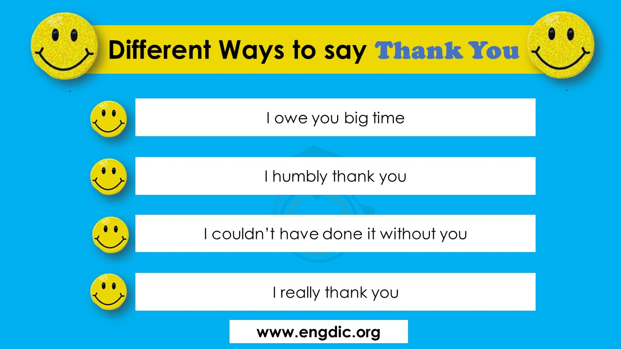 different ways to say thanks