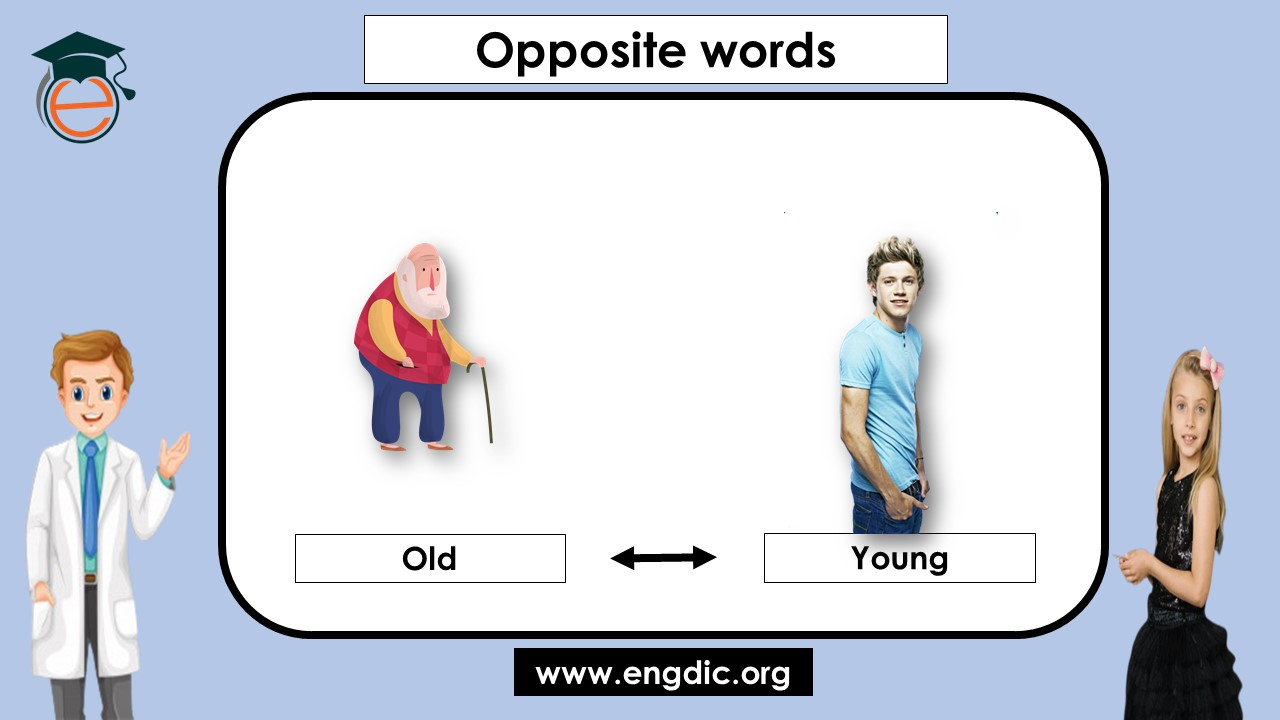 list of opposite words for kids in english