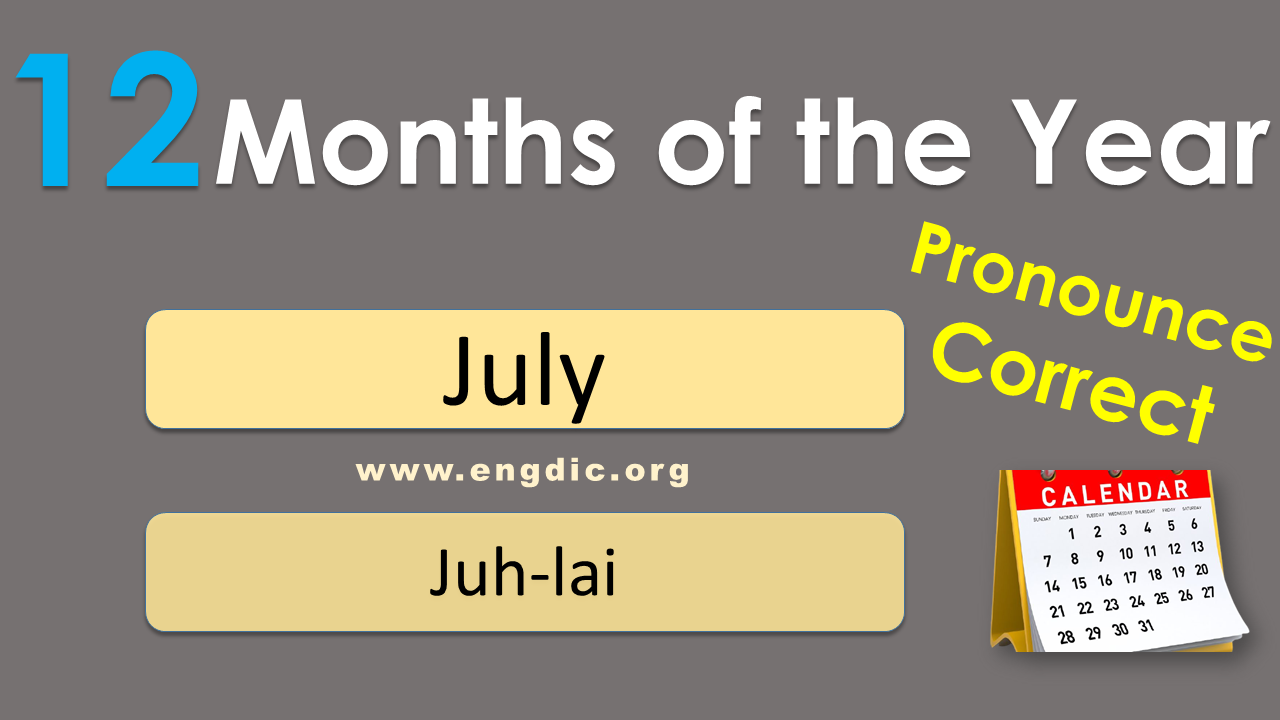 names of months in english