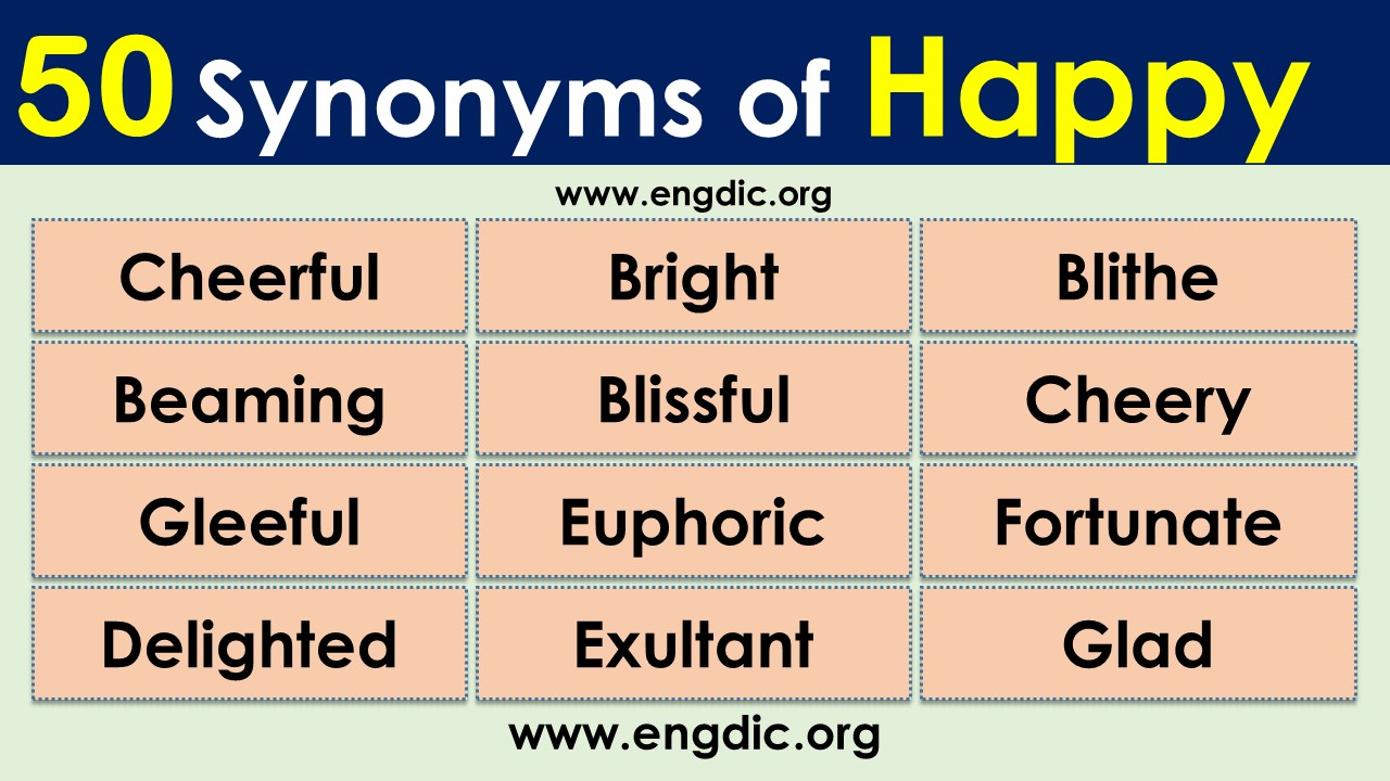 what is synonyms of happy