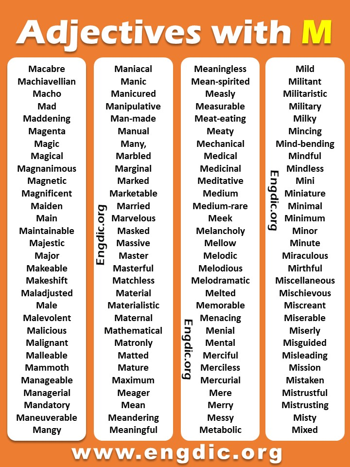 Positive adjectives starting with M pdf
