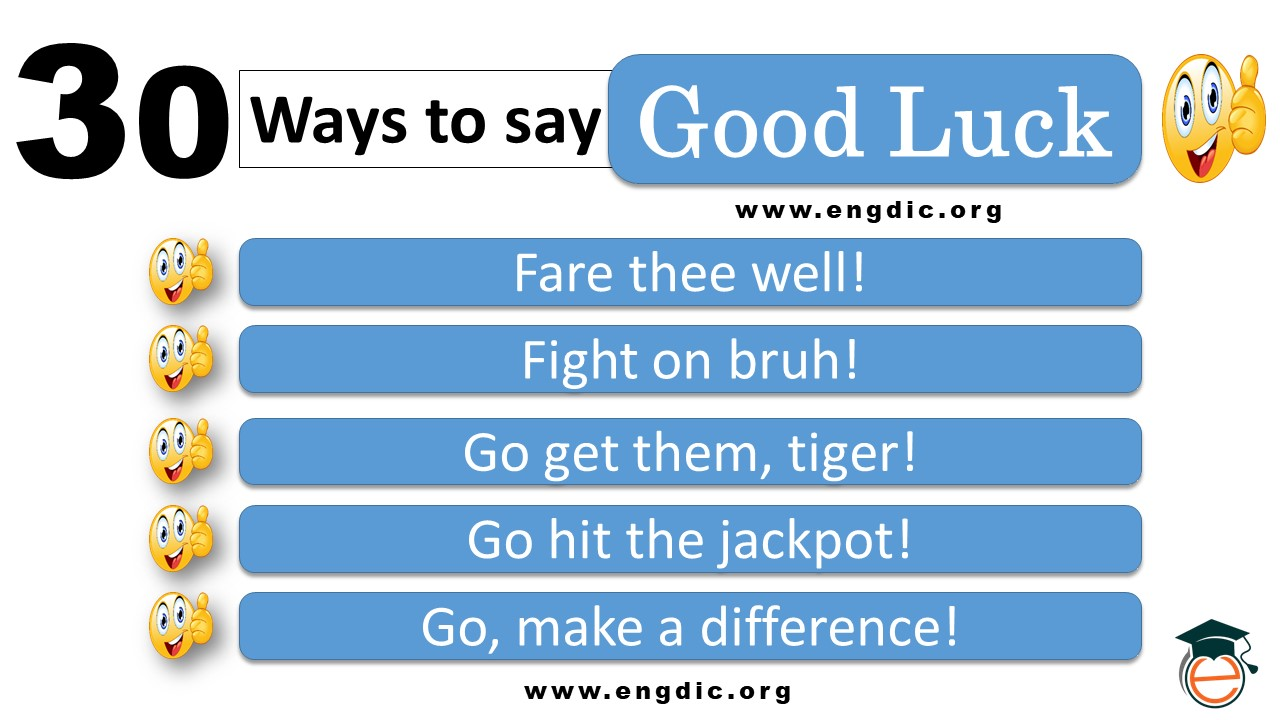 clever ways to say good luck