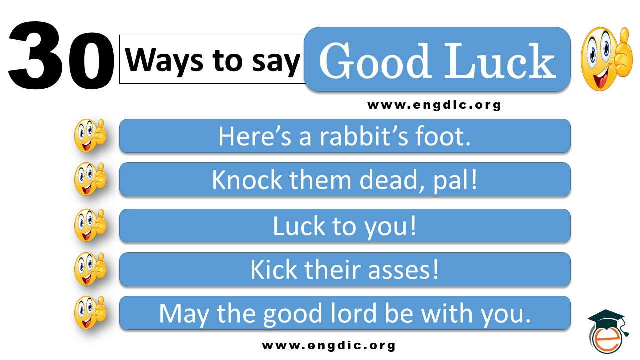 cute ways to say good luck