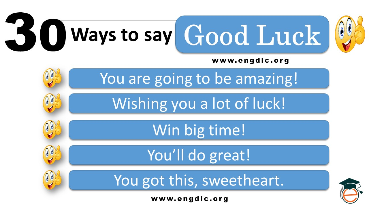 different ways to say good luck