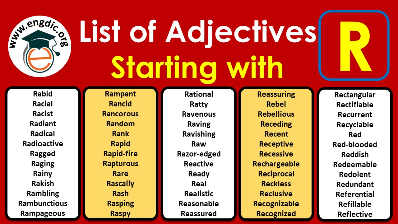 adjectives that start with r to describe a person