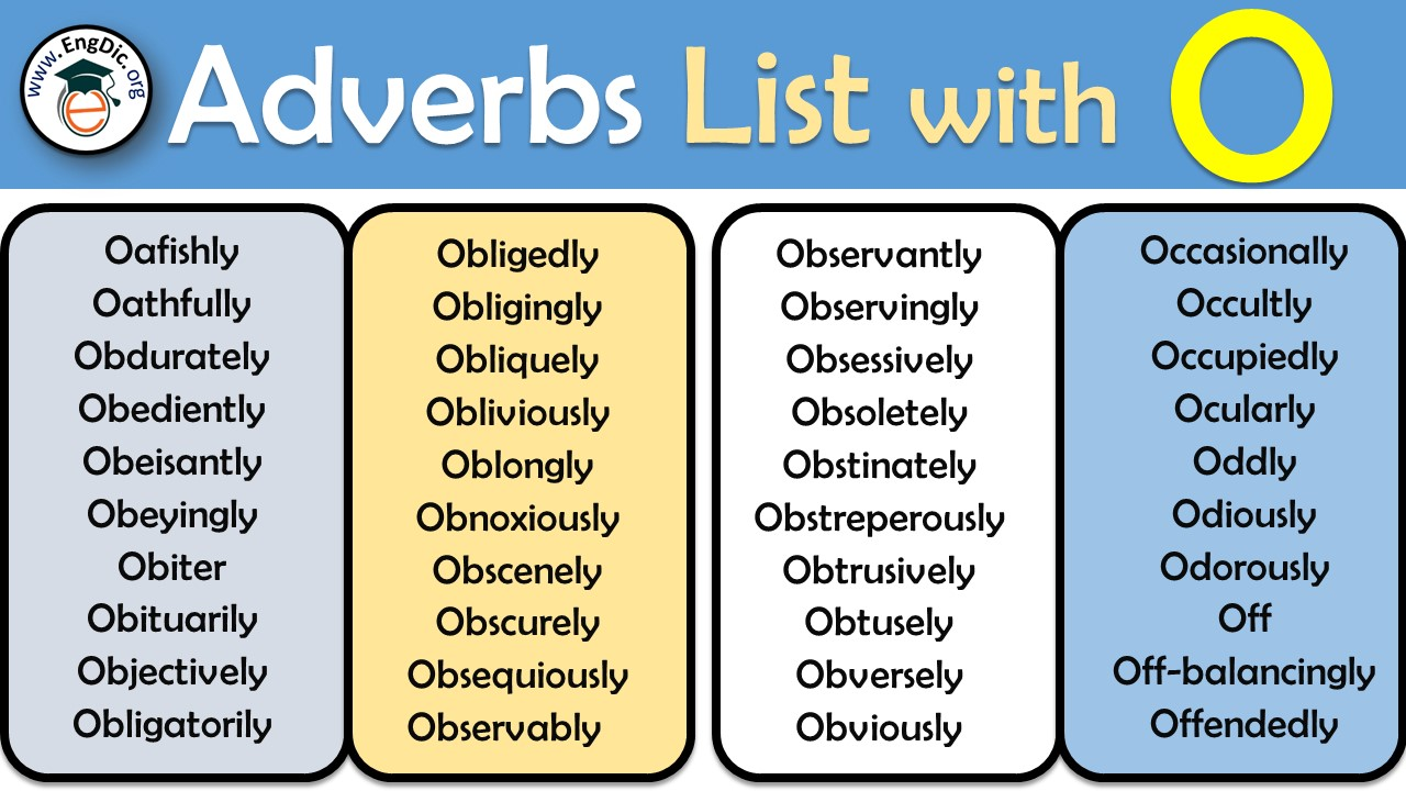 Adverbs starting with O to describe a person PDF