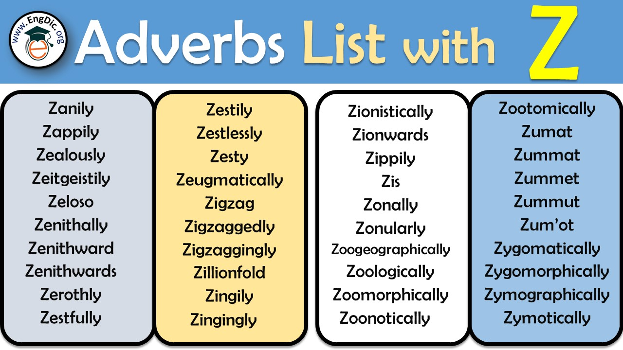 adverbs starting with z