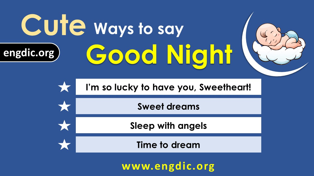 clever ways to say good night