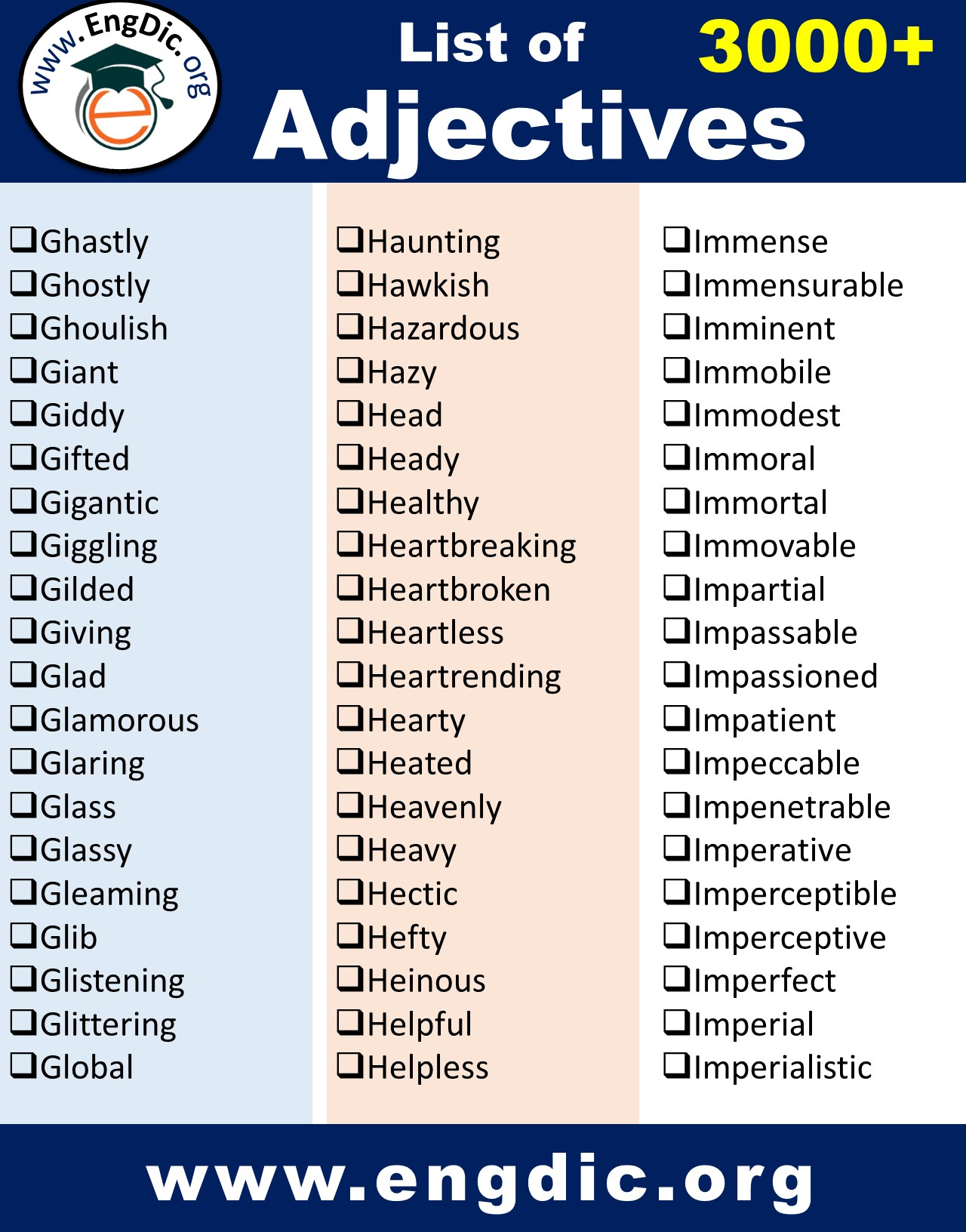 important adjectives