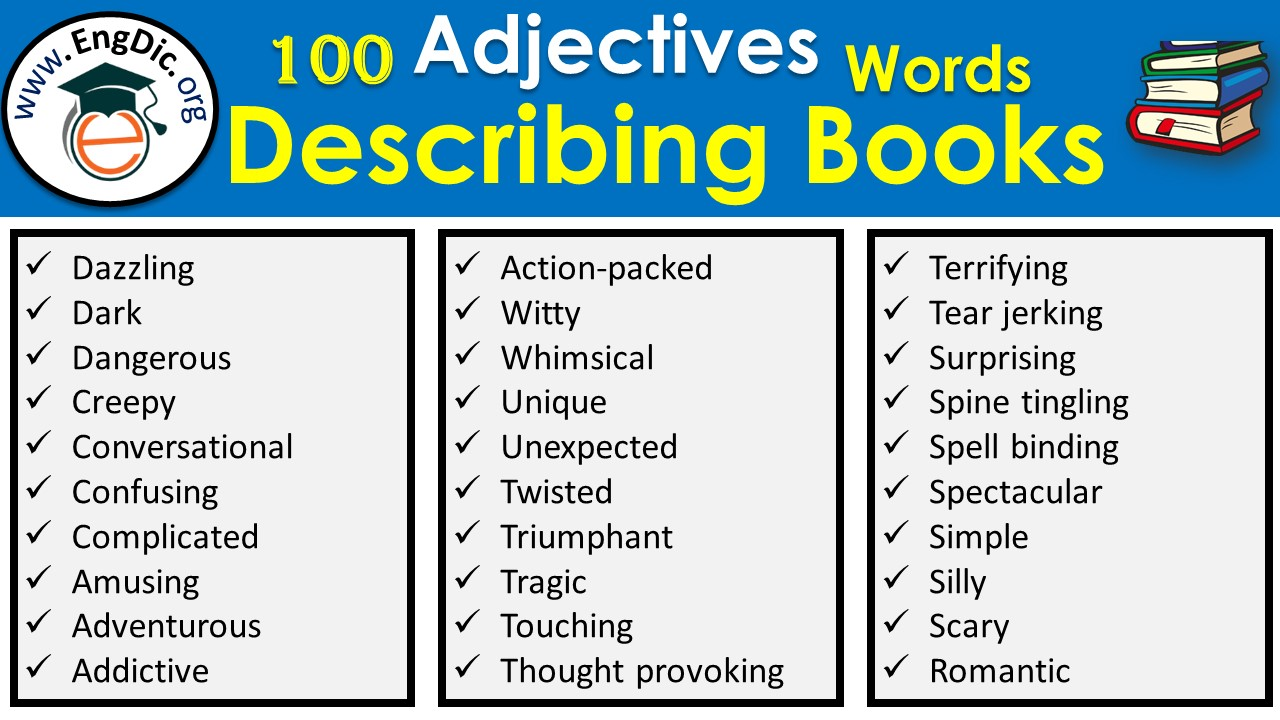 list of adjectives to describe a book