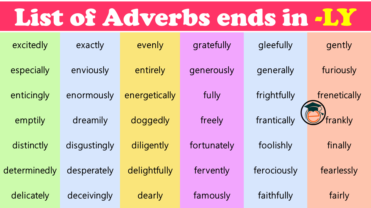 adverbs that ends in ly
