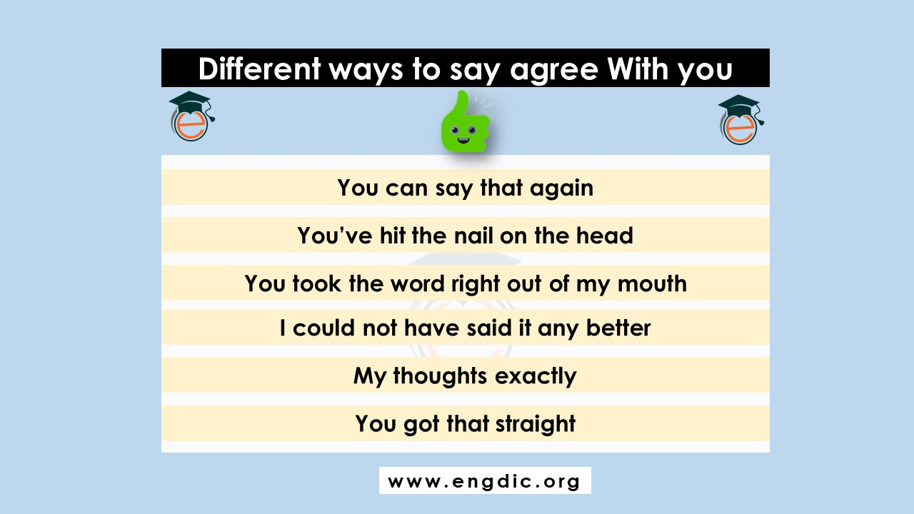 other ways to say i agree with you