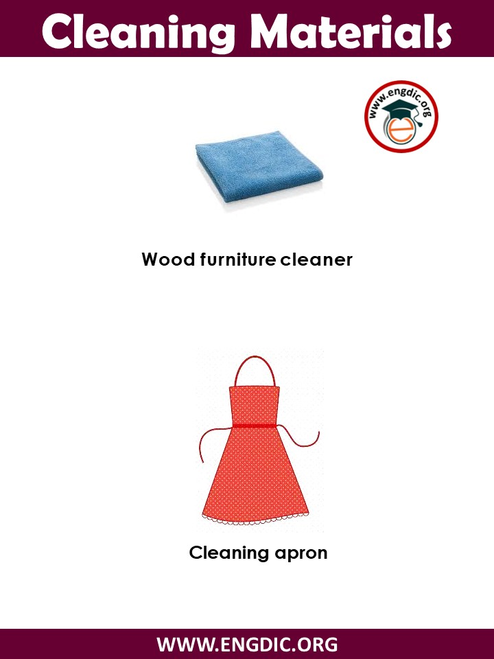 cleaning items list pdf