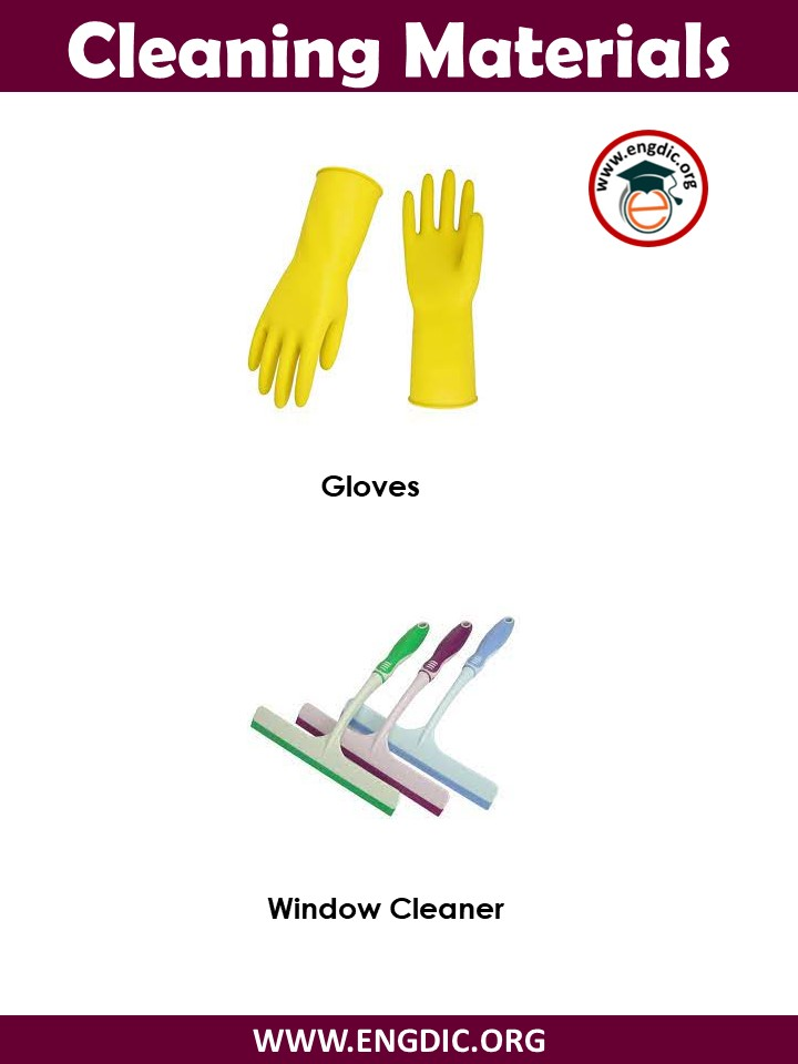 list of cleaning materials pdf